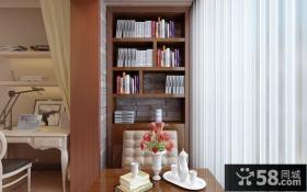 书香花苑9万打造欧式风格餐厅窗帘装修效果图大全2014图片