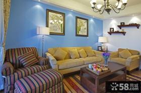混搭地中海风格客厅装修效果图