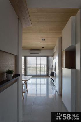 日式风格玄关走廊装修效果图