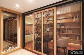 欧式家庭装修书房隔断门