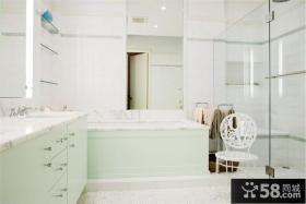 白色舒适的客厅卫生间装修效果图大全2012图片