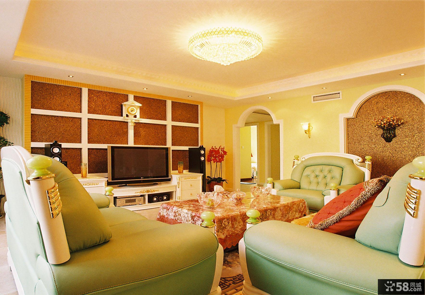 东南亚风格室内客厅装修效果图大全