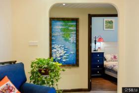 田园卧室外墙面装饰画设计