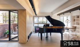 单身公寓钢琴房隔断装修效果图