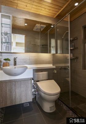 现代日式卫生间图欣赏