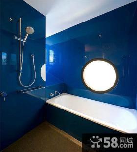 3平米卫生间蓝色瓷砖效果图