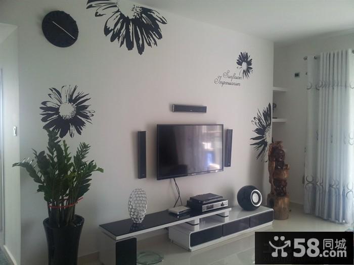 中式电视柜背景墙装修效果图大全