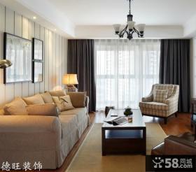 美式客厅沙发茶几图片大全