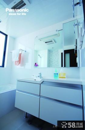 简约卫生间洗手台效果图片