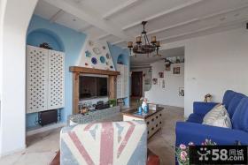 纯美地中海风格客厅装修图片