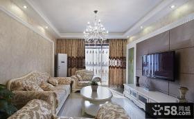 甜美简欧客厅装饰设计