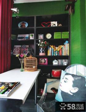 书房置物架装饰效果图片