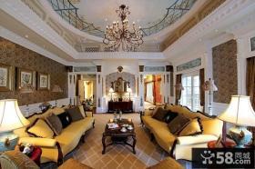欧式风格高档别墅室内装修效果图片2014