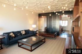 现代简约家庭大厅装修效果图