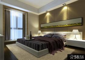 现代简约风格装修卧室背景墙