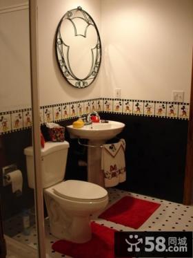 欧式卫生间装修效果图 粉色卫生间装修图片