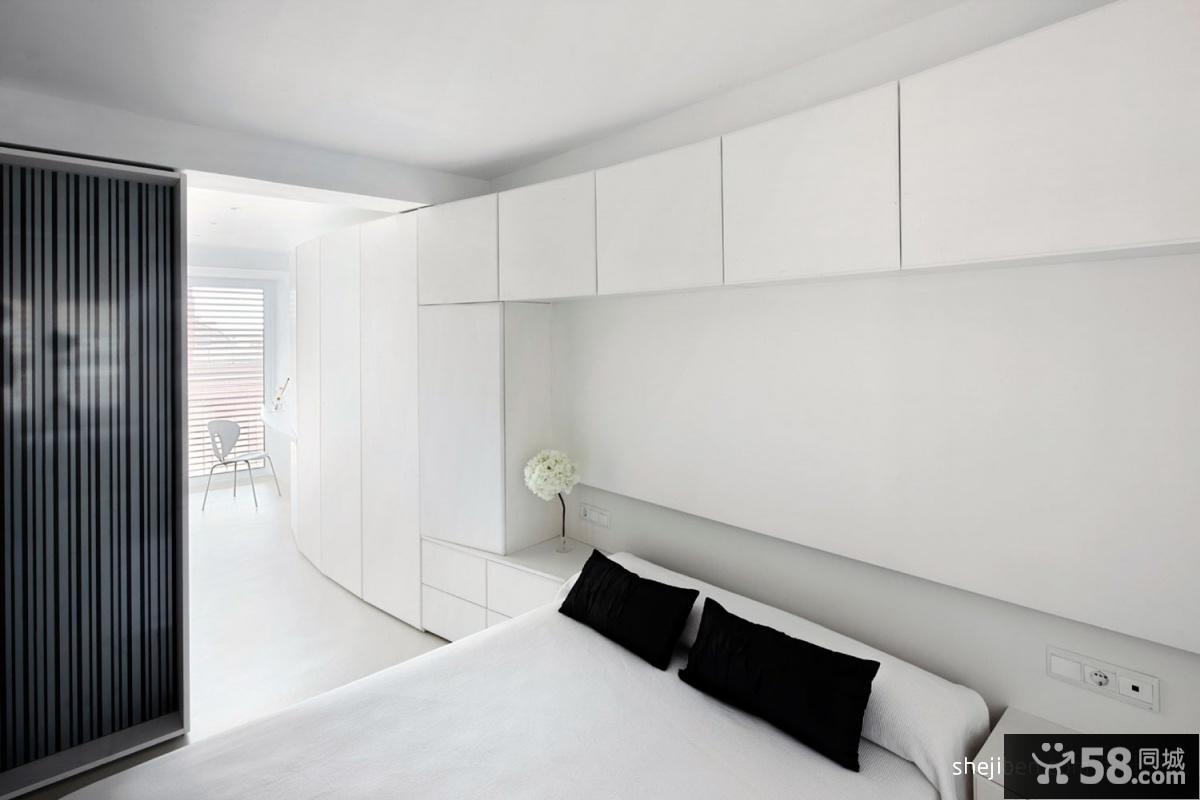 2013现代风格白色卧室组合柜装修效果图