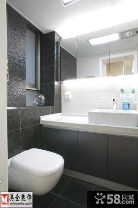 现代简约小卫生间洗手台设计 图片