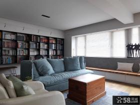简约日式装修书房小客厅图片