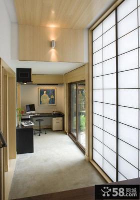 日式书房过道装修图片