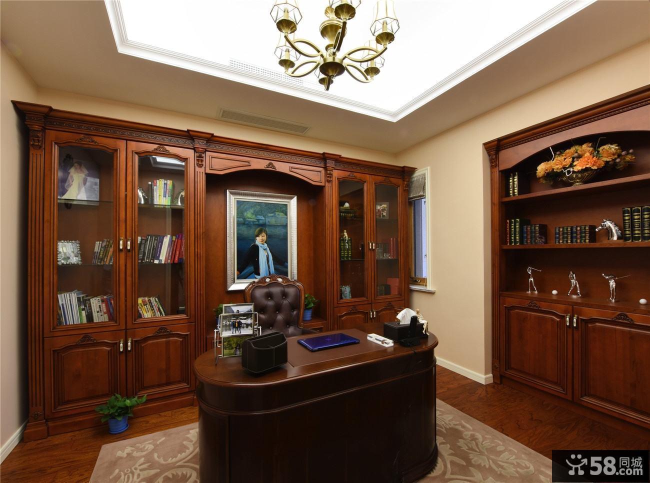 古典实木欧式书房设计