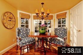 二居房华丽的美式餐厅装修效果图大全2014图片