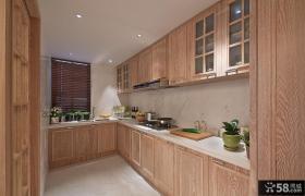 美式L型厨房装修图欣赏