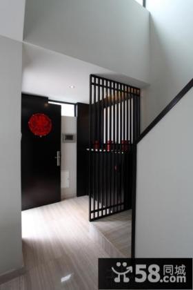 玄关隔断墙装饰效果图