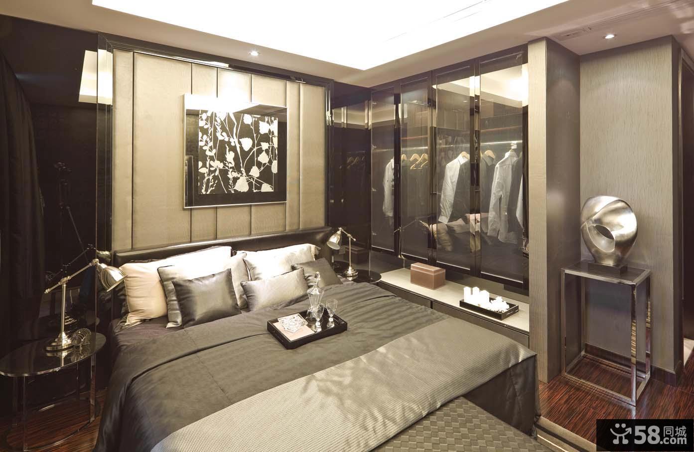 现代卧室设计效果图大全2013图片