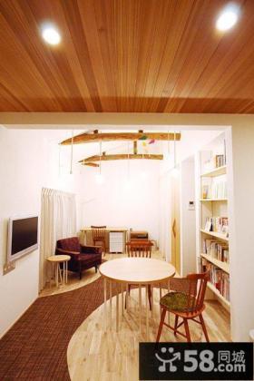 日式实木风格吊顶效果图