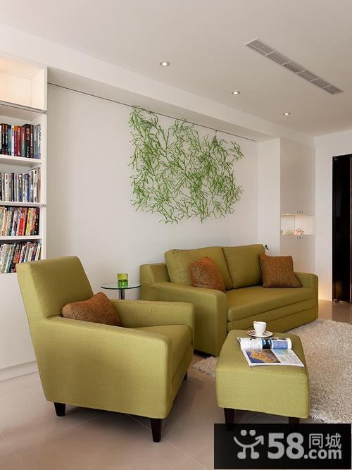 简约中式客厅背景墙效果图