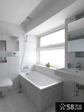 时尚简约公寓卫生间装修效果图片