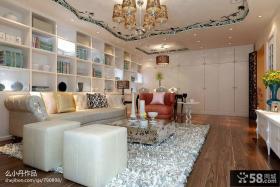 现代简约家装客厅设计效果图