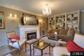 暖色系美式风格室内客厅设计
