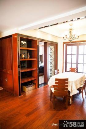 简约美式三室两厅餐厅装修效果图