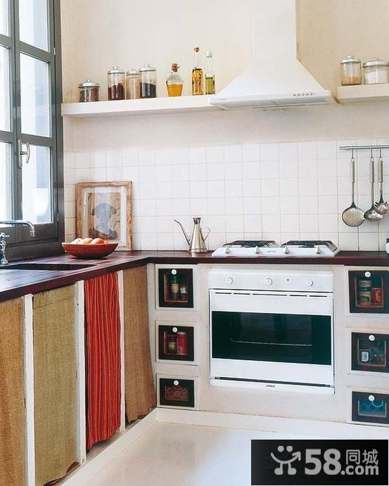 2013开放式厨房装修效果图大全欣赏