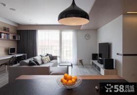 现代设计客厅窗帘图大全