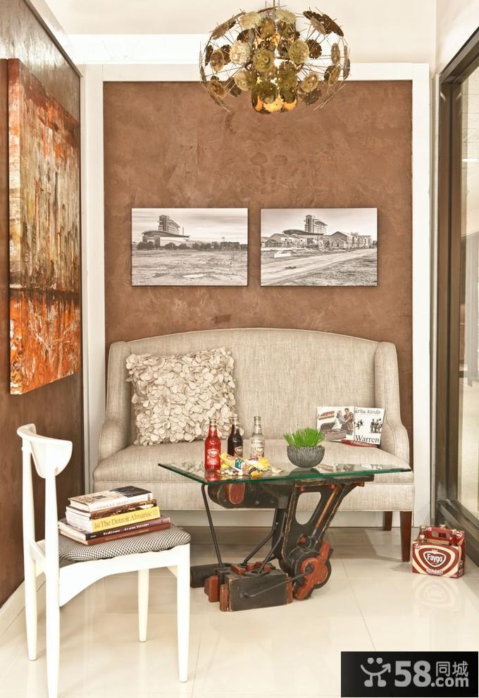 客厅电视中式背景墙