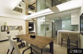 现代简约式家装三居室效果图
