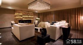 现代风格长方形客厅吊灯图片