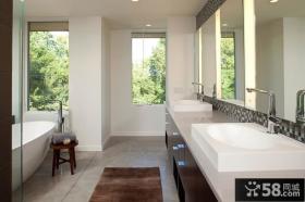 简欧风格三房两厅卫生间装修效果图大全2014图片