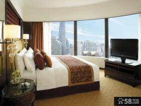 三室两厅中式内敛卧室装修效果图大全2014图片