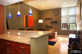 2012最新开放式厨房装修效果图吧台