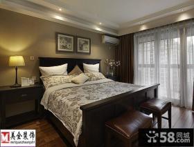 现代美式风格卧室挂画装修效果图片