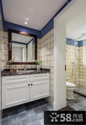 美式干湿分离卫生间装修