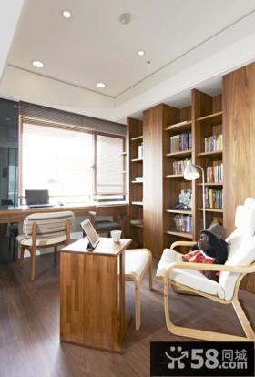 实木家具书房装修图片