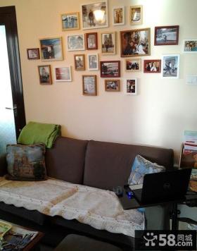 田园风格客厅照片墙效果图大全