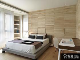 简约卧室隐形门装修效果图