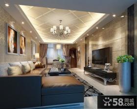 最新简约客厅电视背景墙装修效果图大全2013图欣赏