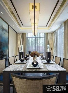 美式田园风格客厅吊顶效果图片